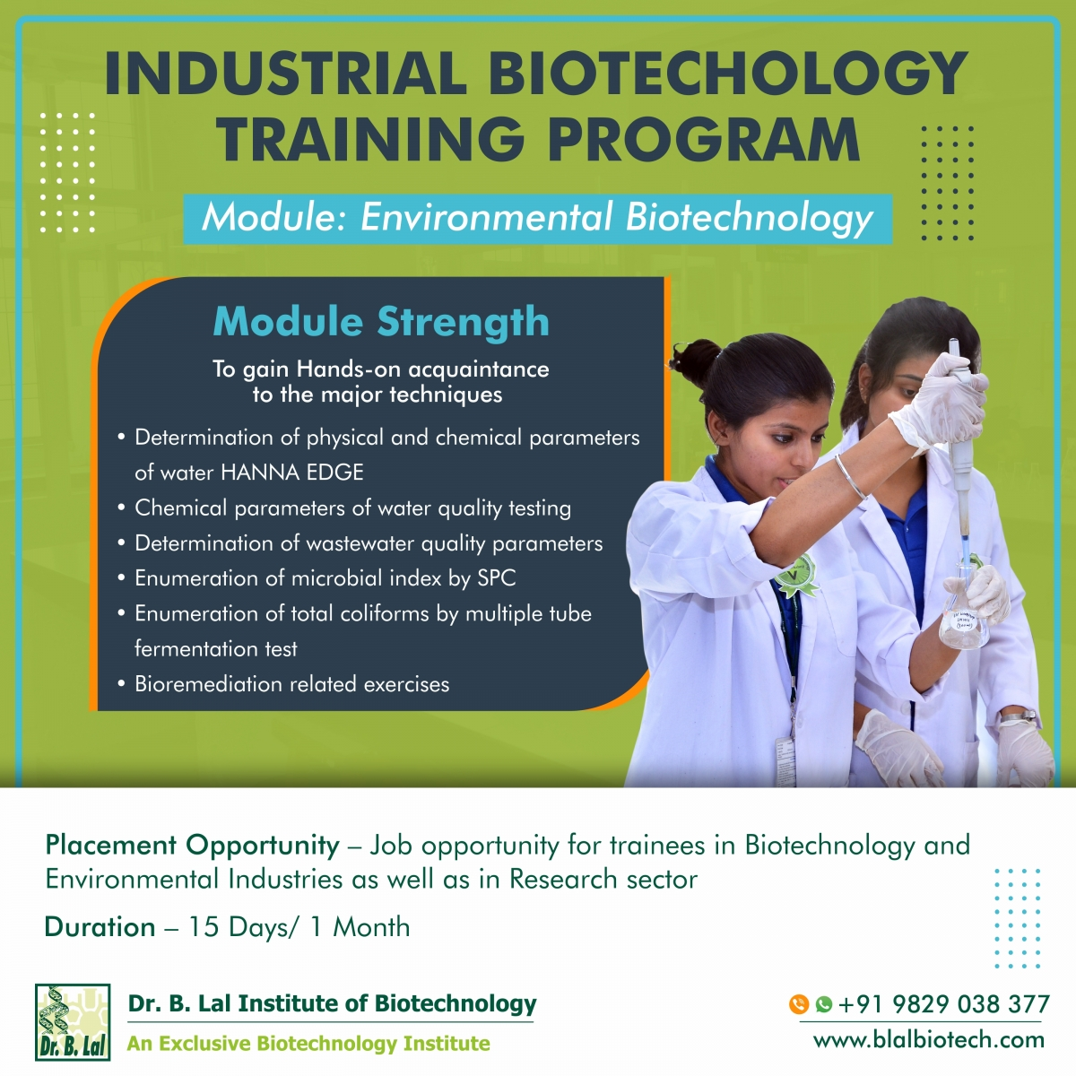 Industrial Biotechnology Training Program | Module: Environmental Biotechnology