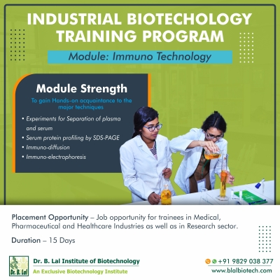 Industrial Biotechnology Training Program | Module: Immuno Technology