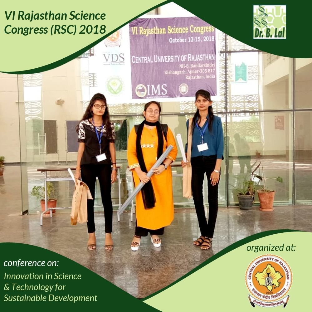 Innovation in Science and Technology for Sustainable Development - VI Rajasthan Science Congress (RSC) 2018