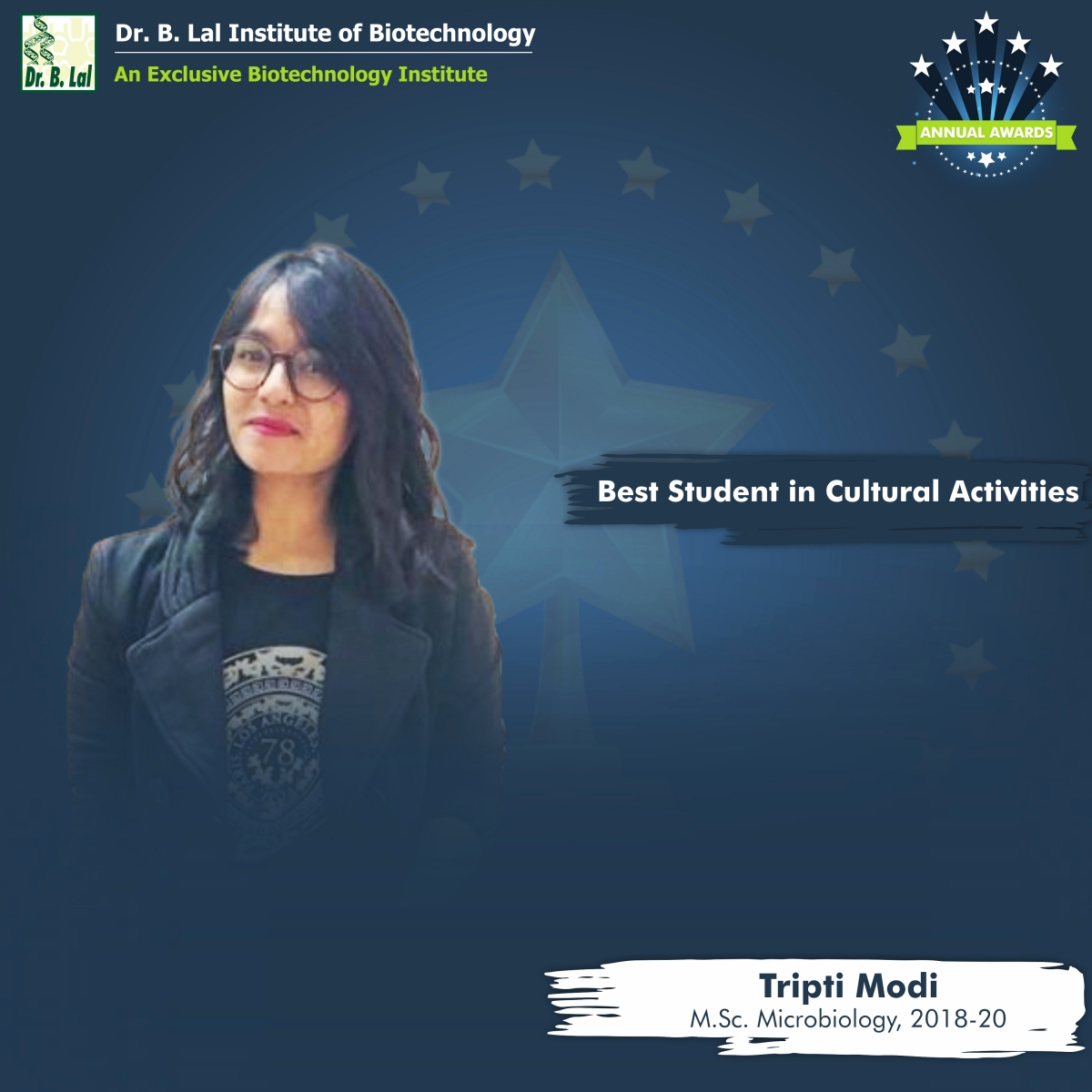 Best Student with Cultural Activities | Annual Awards