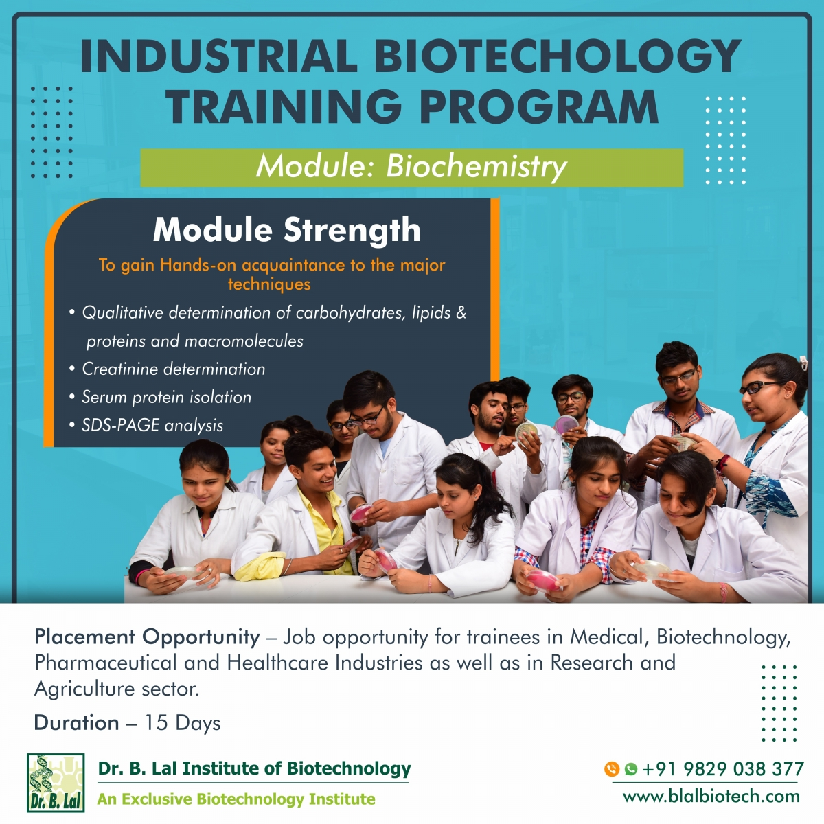 Industrial Biotechnology Training Program | Module: Biochemistry