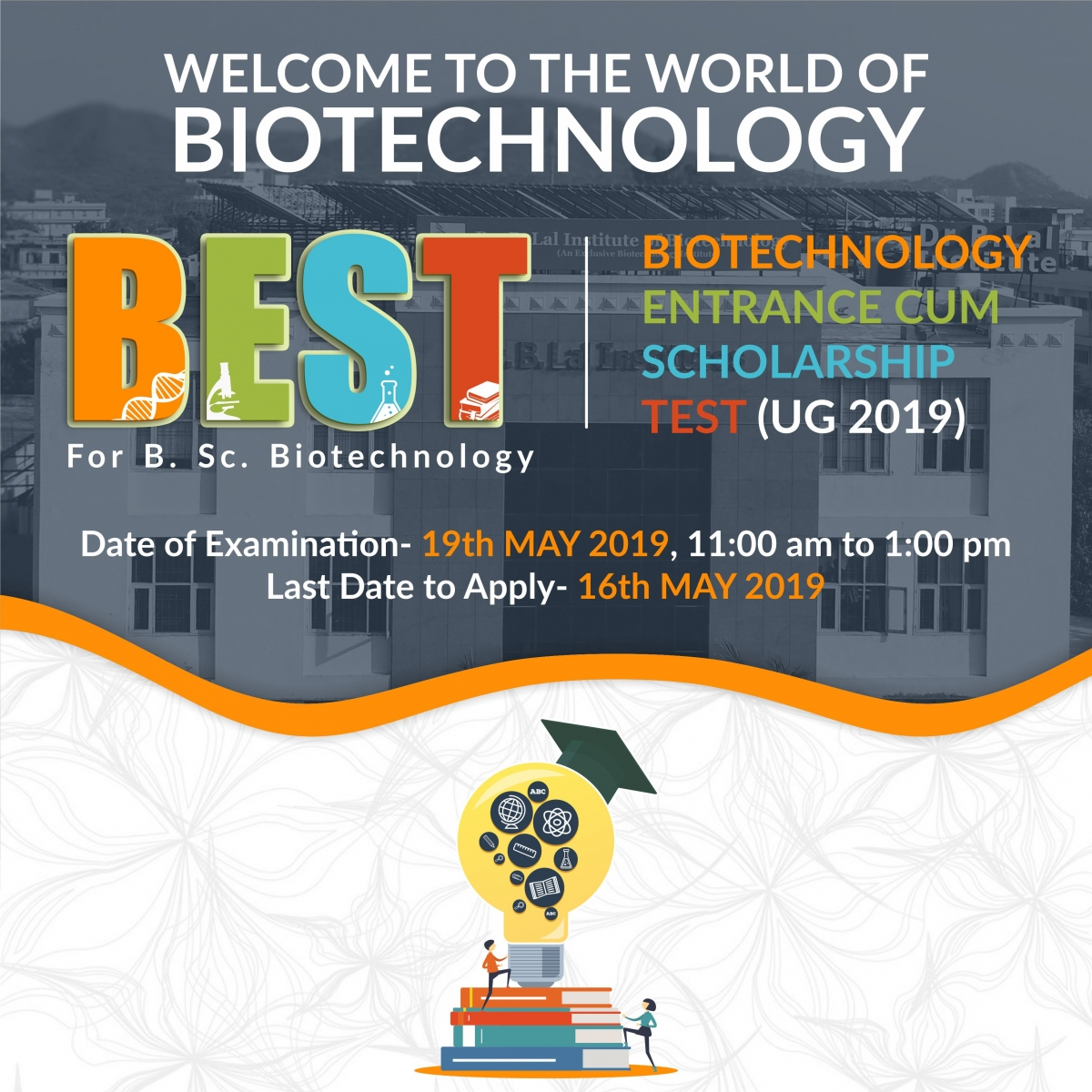 BEST UG - 2019 | Biotechnology Entrance Cum Scholarship Test