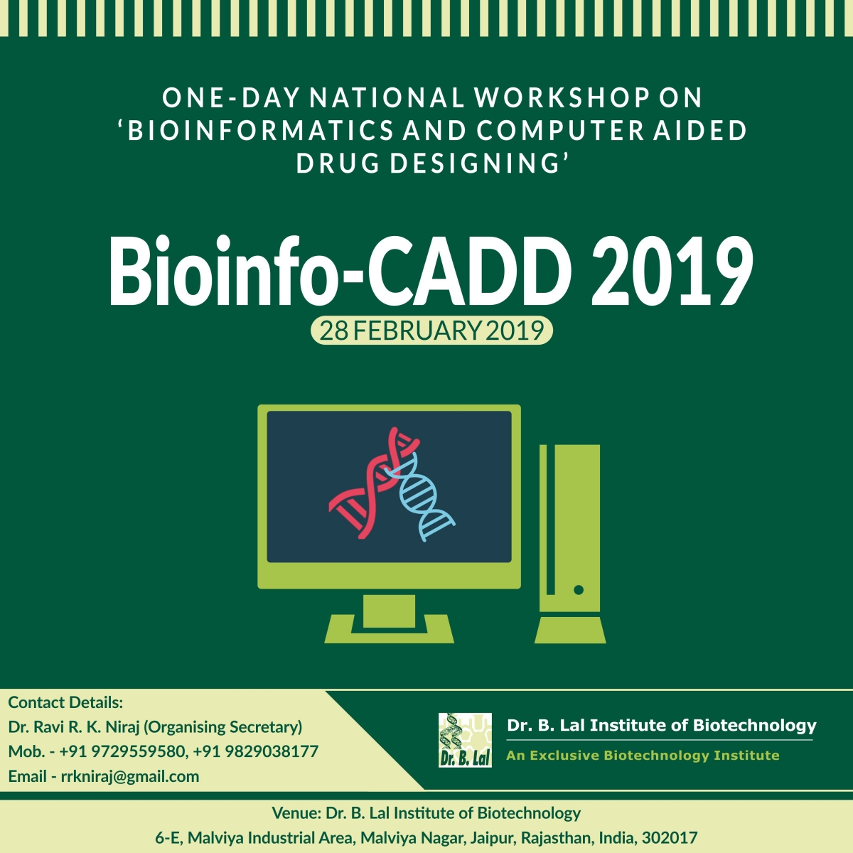 National Workshop - Bioinfo CADD 2019