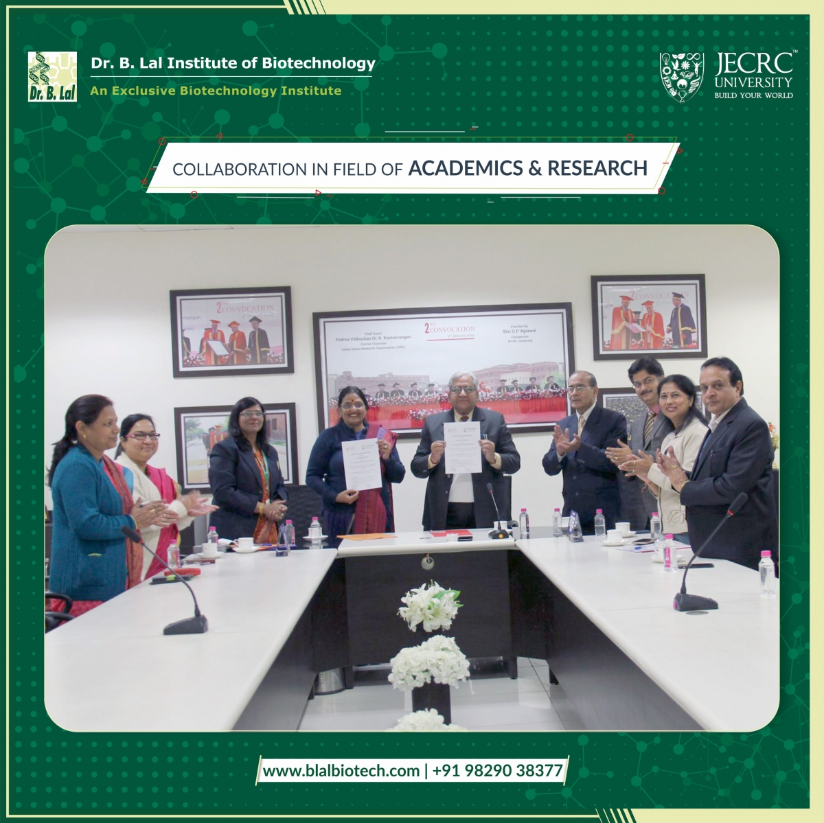 JECRC & BIBT | Collaboration for Academics and Research