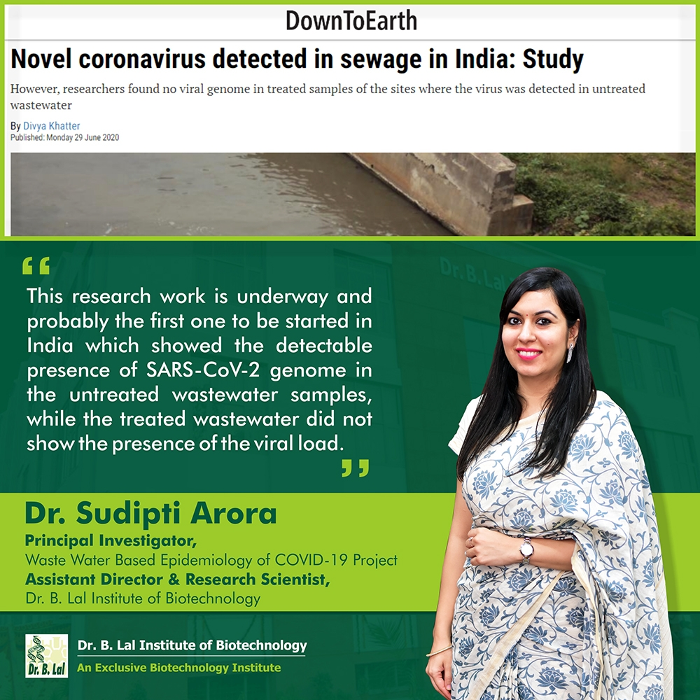 Sewage surveillance for the presence of SARS-CoV-2 genome as a useful wastewater based epidemiology (WBE) tracking tool in India