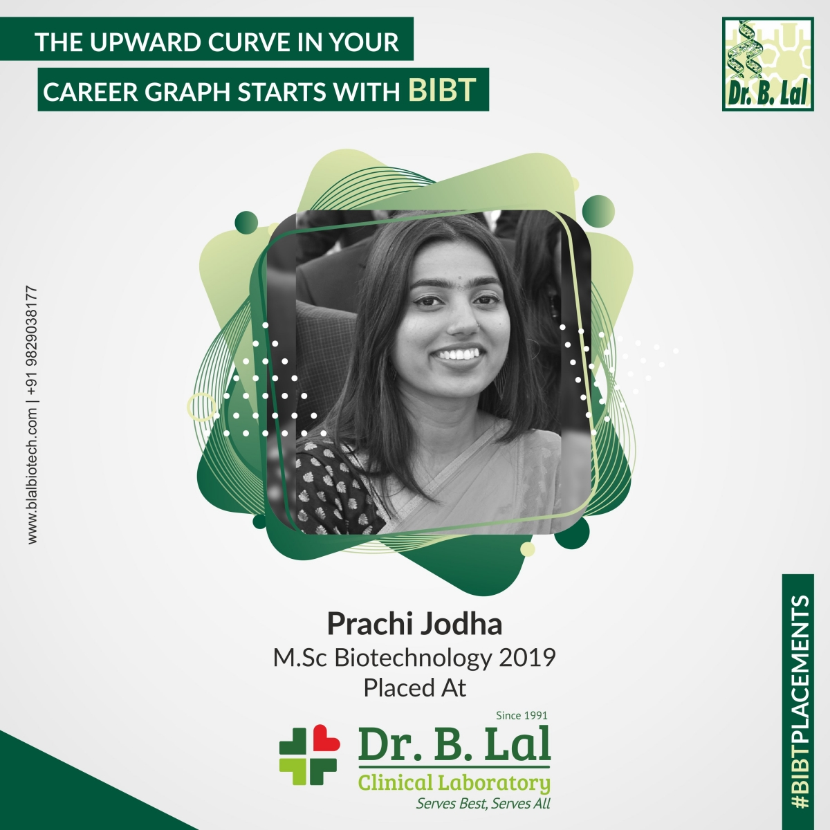 Prachi Jodha, M.Sc. Biotechnology 2019 | #BIBTPlacements