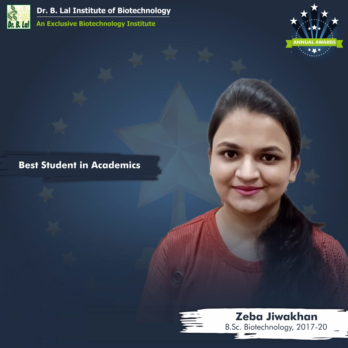 Best Student in Academics | Annual Awards