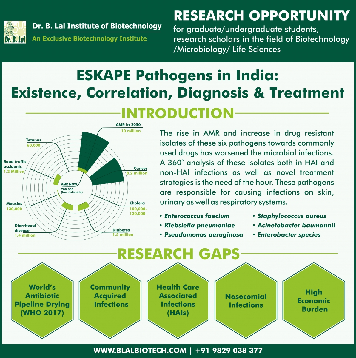 Research Opportunity At Dr. B. Lal Institute of Biotechnology, Jaipur