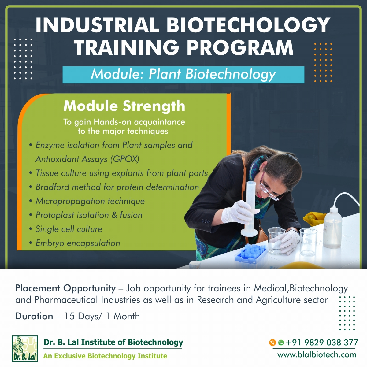 Industrial Biotechnology Training Program | Module: Plant Biotechnology